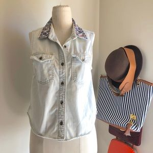 Tops - Cute Denim Jean Light Wash BDG Vest Top Size S